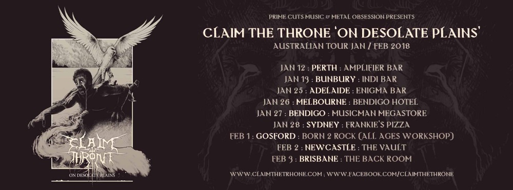 CLAIM THE THRONE dates