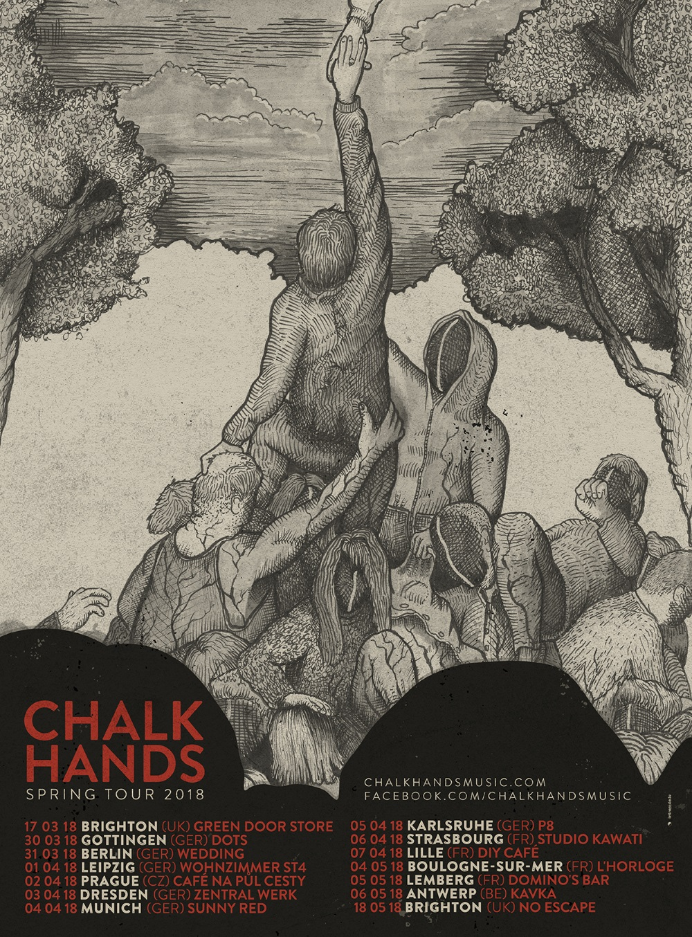 CHALK HANDS tour