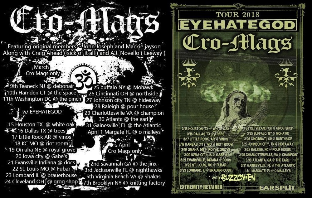 CRO MAGS US TOUR