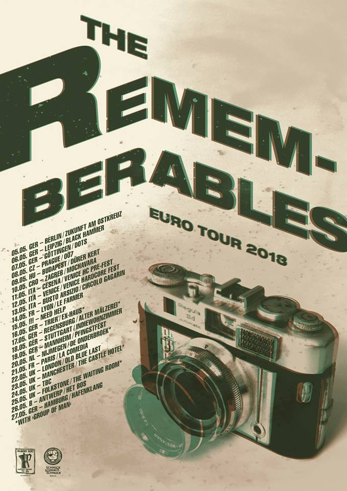 THE REMEMBERABLES tour 2018