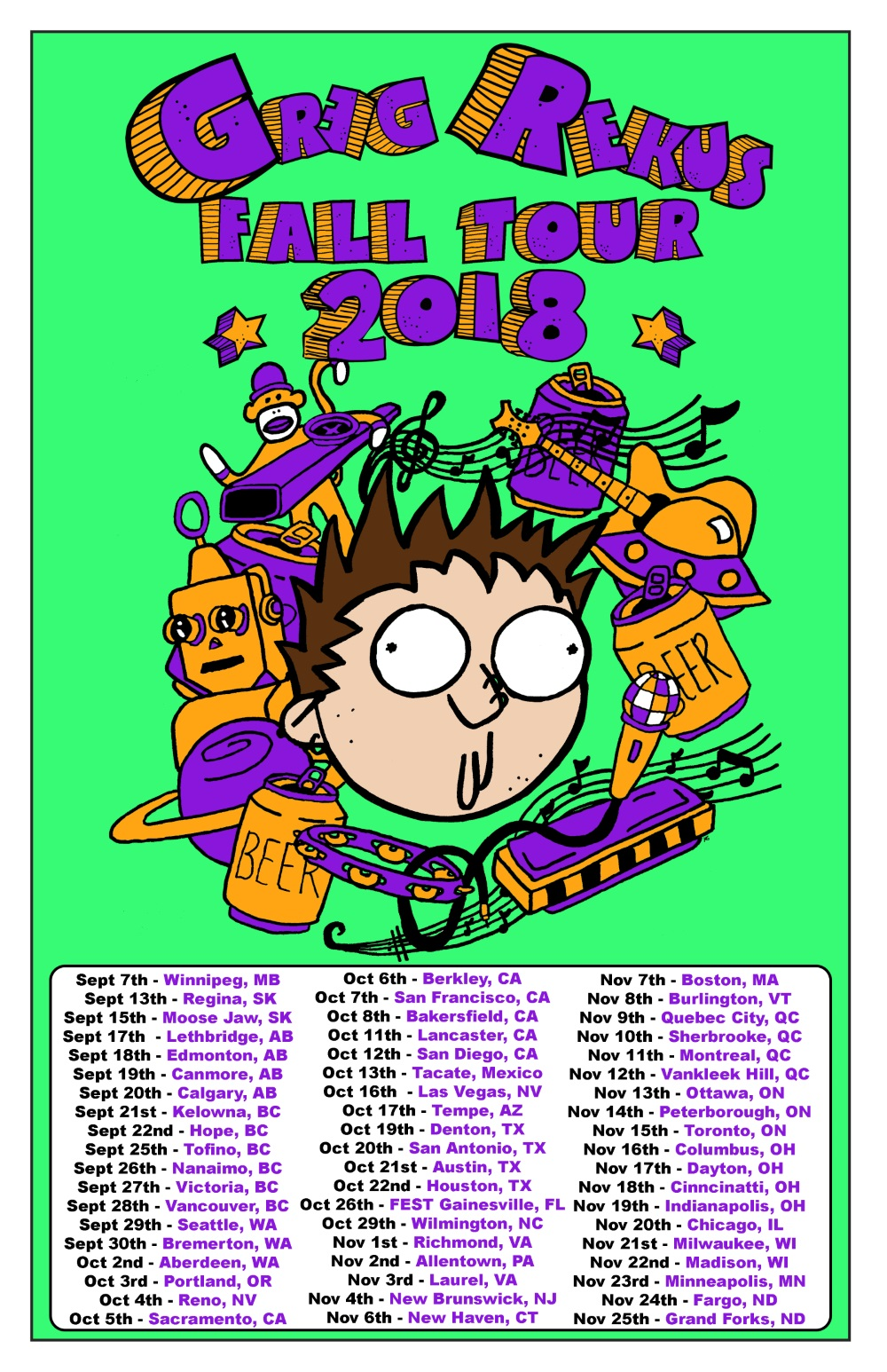 Greg Fall tour