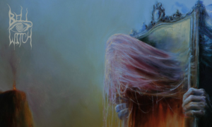 "Mirror Reaper cover (BELL WITCH) - ""Essence of Freedom"" painting by Polish artist Mariusz Lewandowski, inspired by Zdzisław Beksiński"