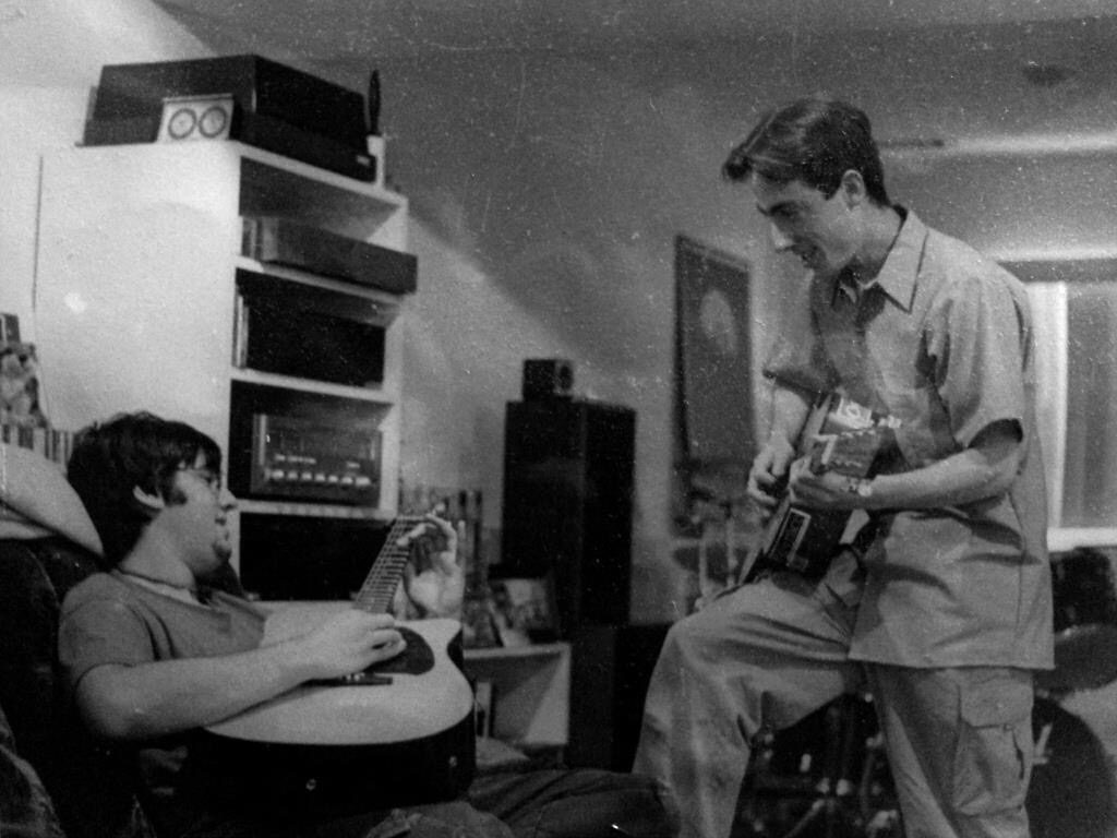Paul and Kevin in high school when they first started playing music together