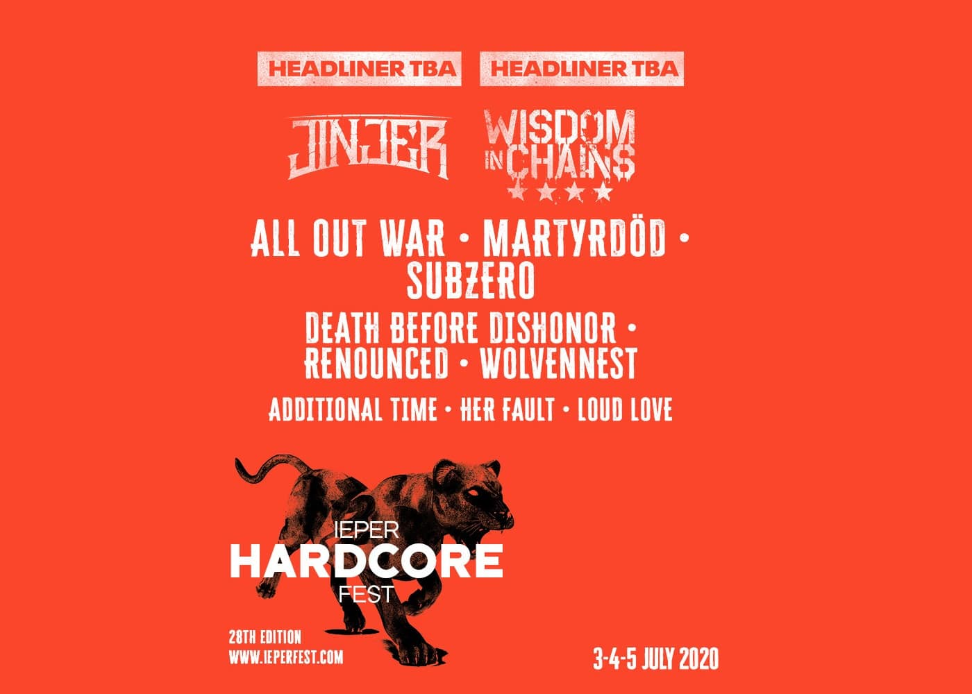 Death List 2020.Ieper Hardcore Fest Summer 2020 First Bands Announced