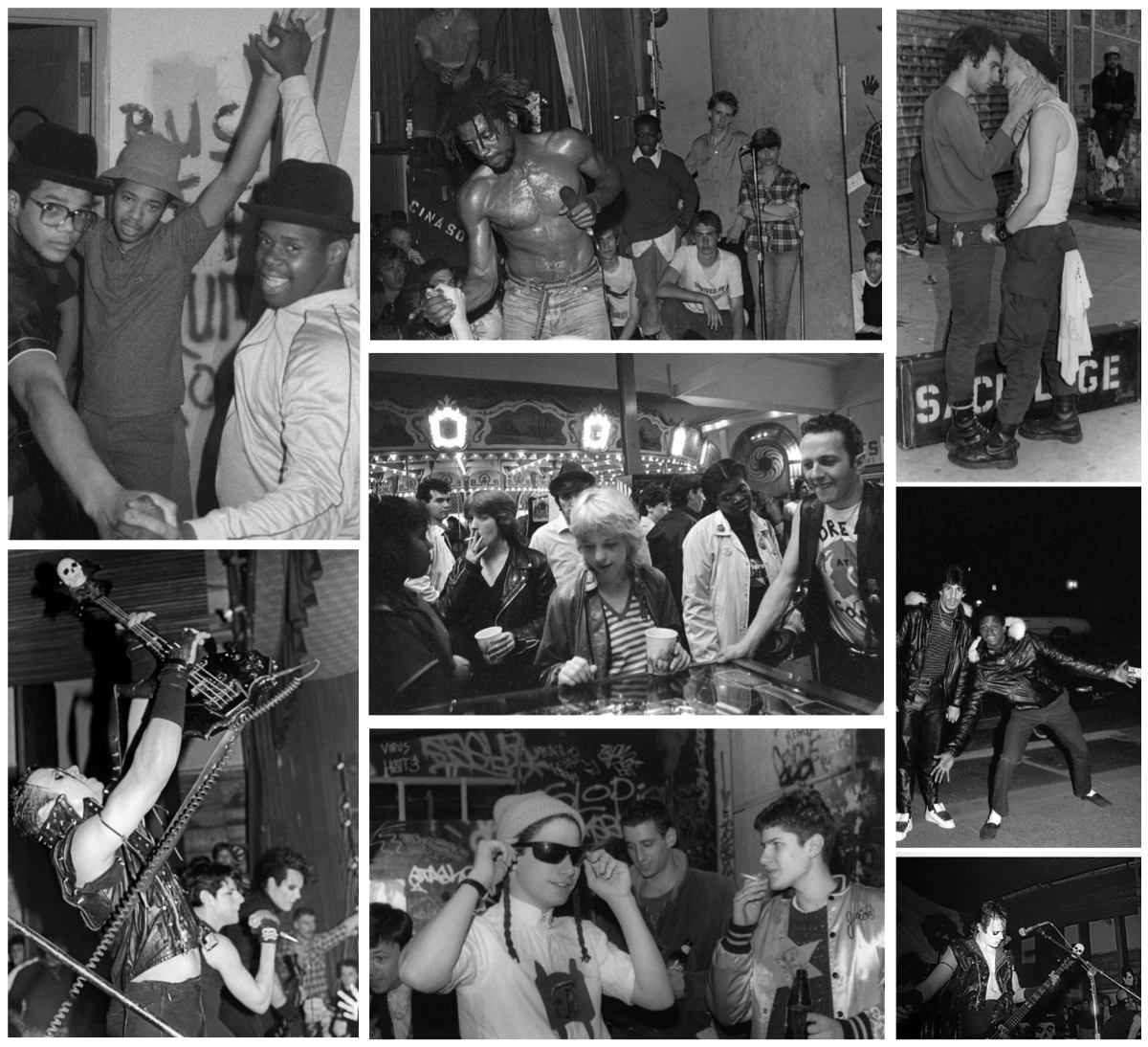 Somewhere-Below photobook - NYHC collage