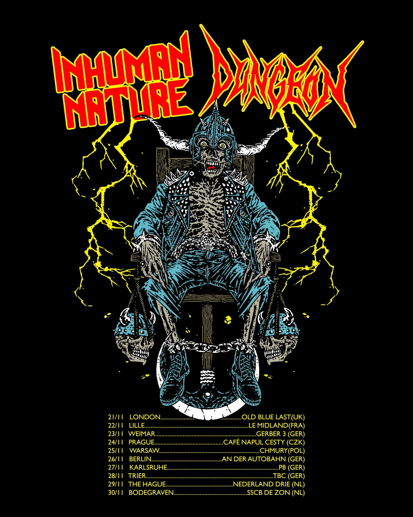 INHUMAN NATURE Dungeon EU Tour Poster