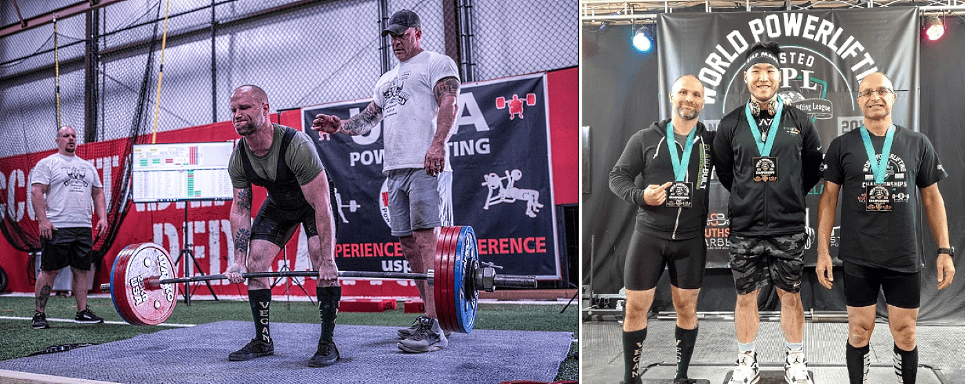 Daniel Austin powerlifting, by Julie Anderson + 2nd Place in 181 pound open raw weight class at IPL World Powerlifting Championship 2019 (Limerick, Ireland)