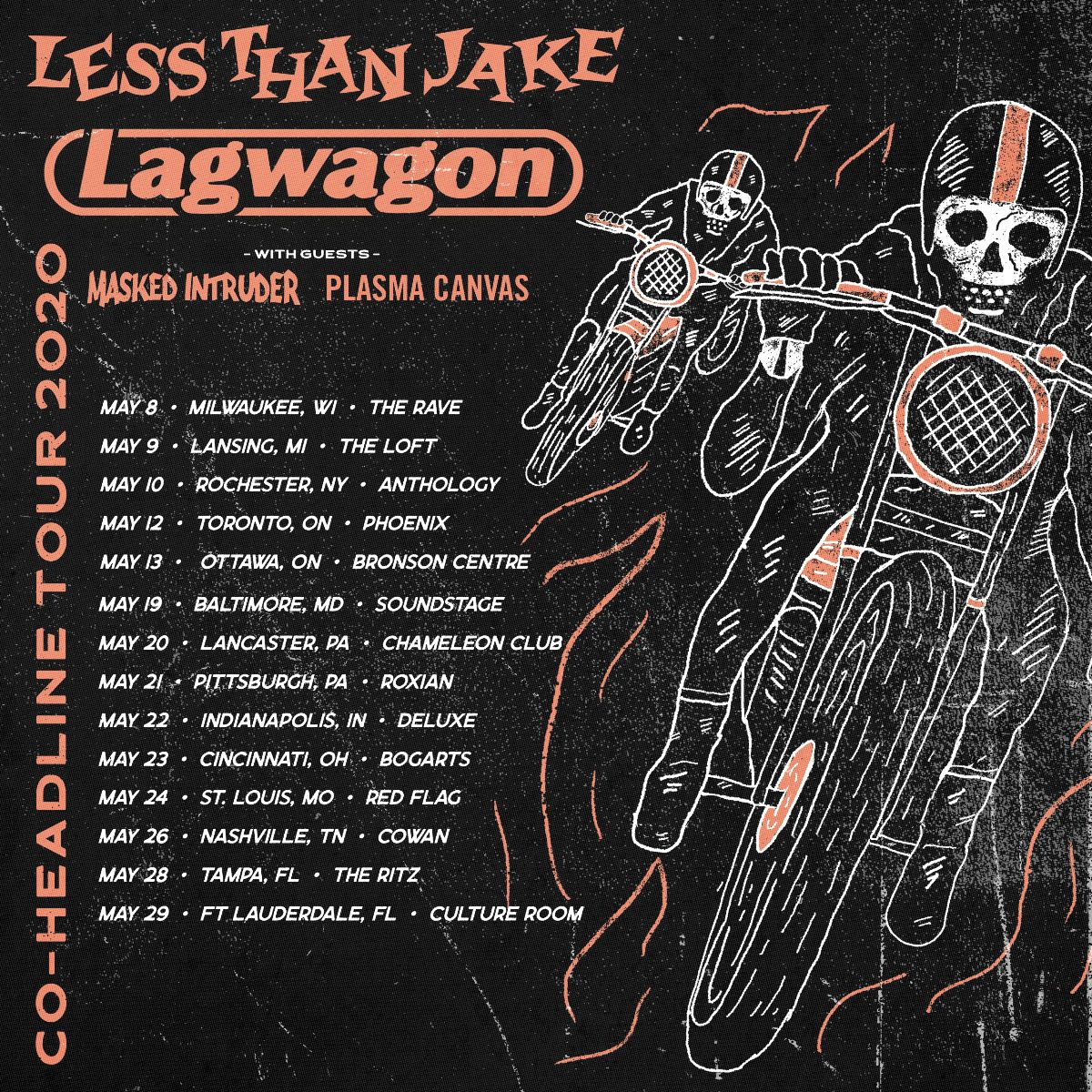 LESS THAN JAKE and LAGWAGON tour