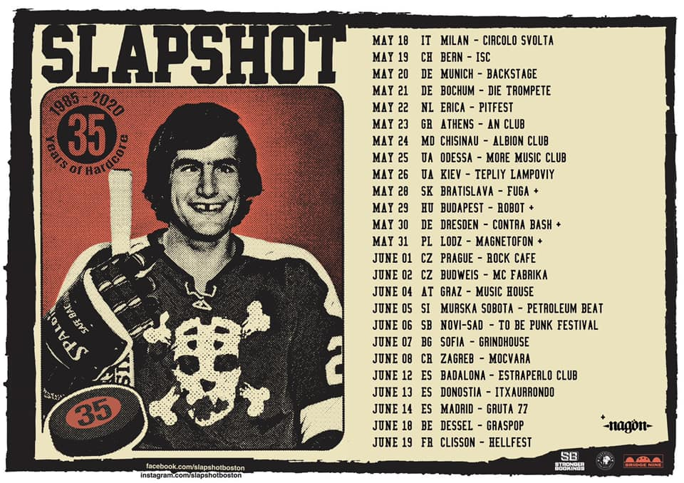 SLAPSHOT European shows