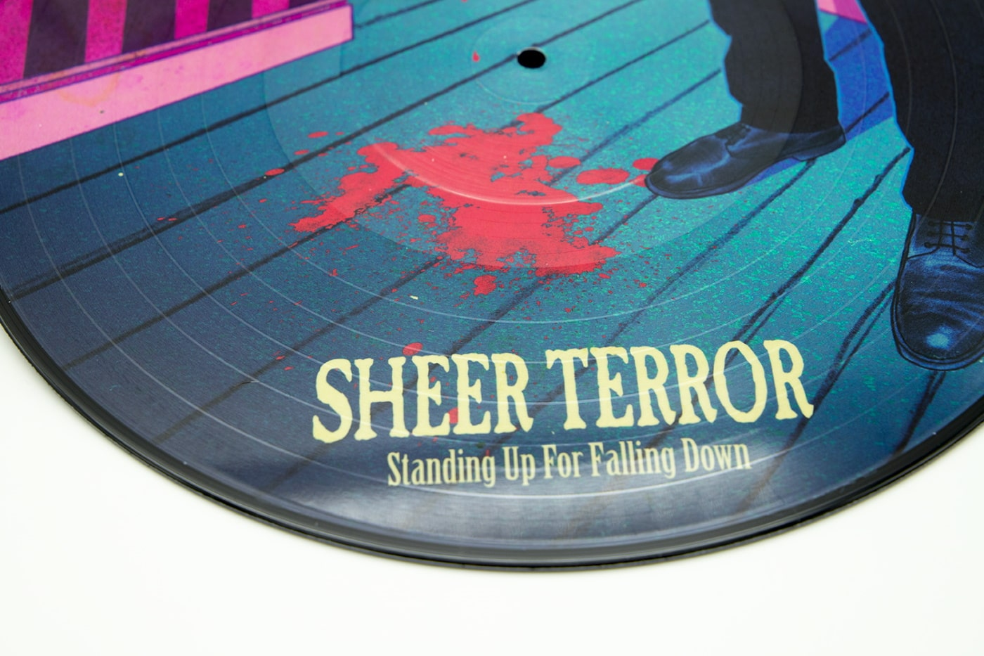 "SHEER TERROR ""Standing Up For Falling Down"" Picture Disc 12″ vinyl, ""Rose"" Edition"