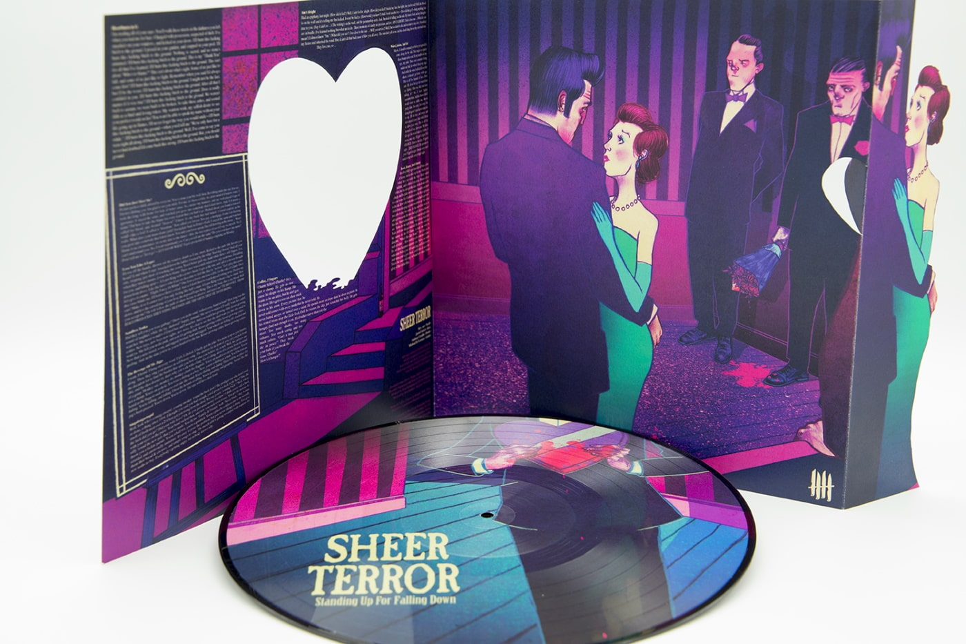 "SHEER TERROR ""Standing Up For Falling Down"" Picture Disc 12″ vinyl, ""Heart"" Edition"