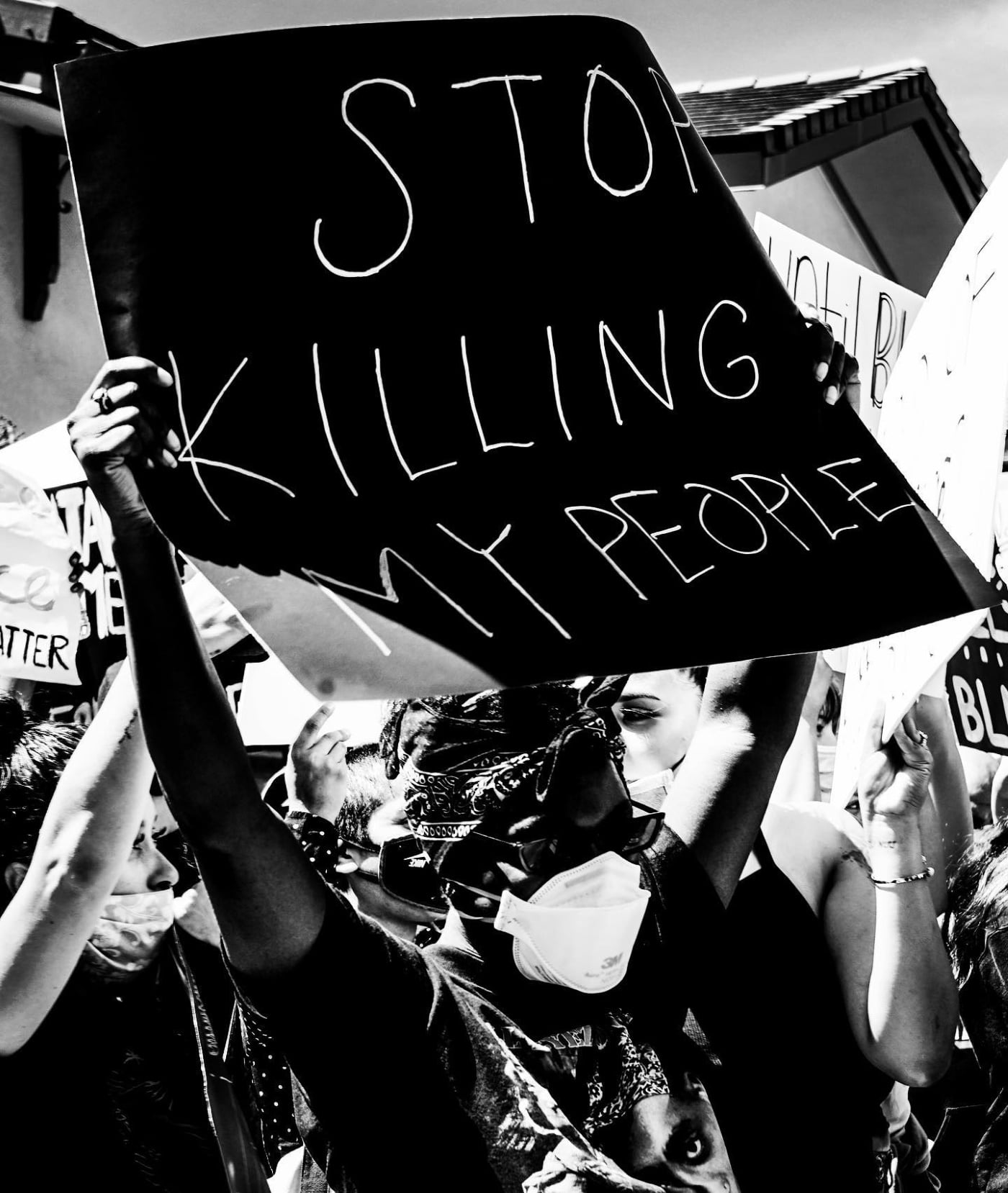 Stop Killing My People banner, by Becky DiGiglio Photography