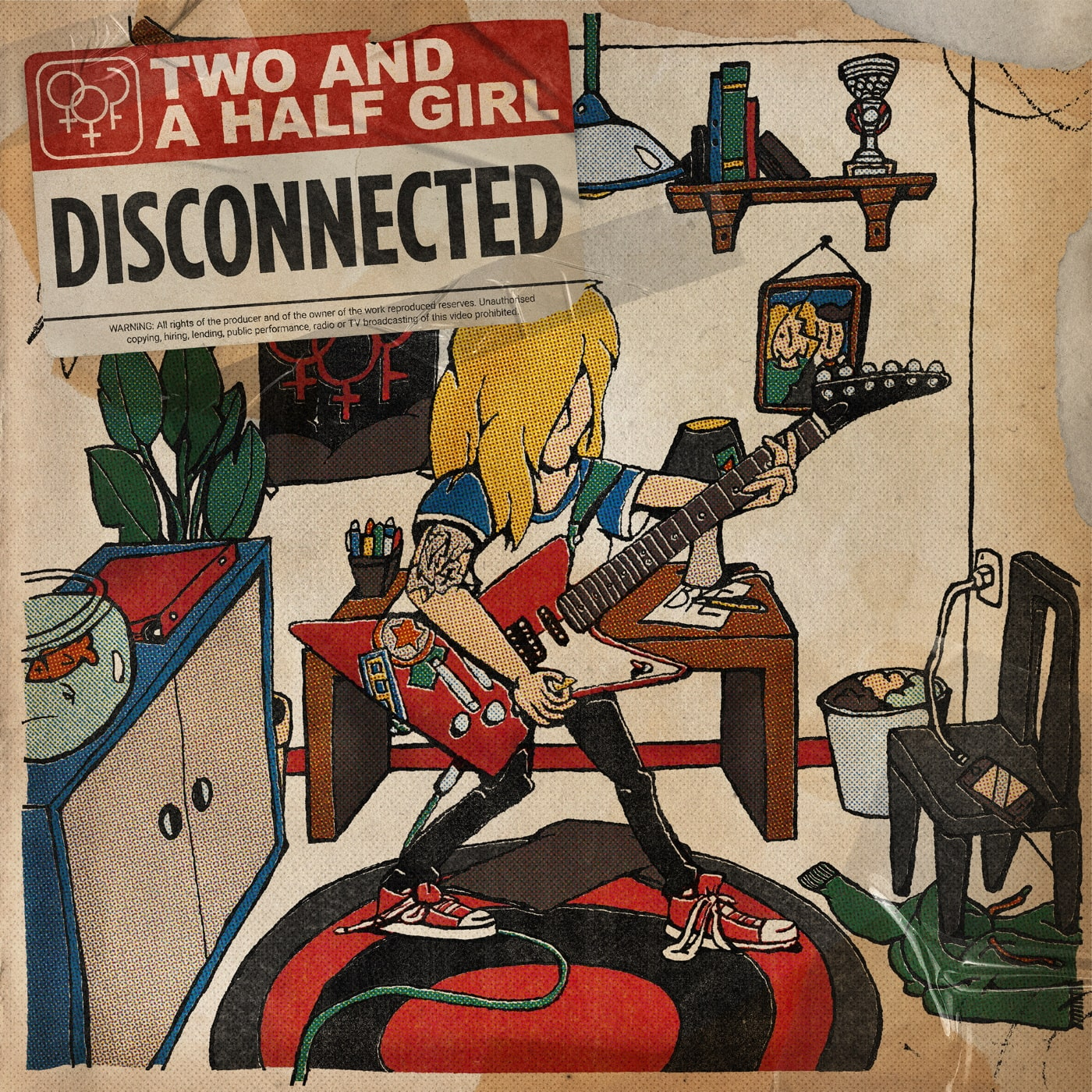 Cover of the new EP Disconnected, cover by Levi Reinds